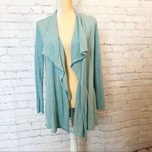 Eileen Fisher 100% Merino Wool open front cardigan